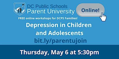 Depression in Children and Adolescents tickets
