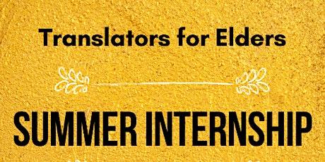 Translators for Elders Internship Presentation tickets