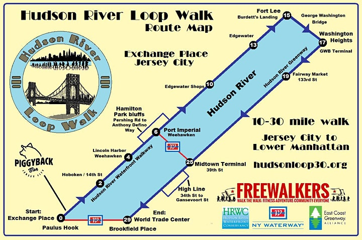 Hudson River Loop Walk image
