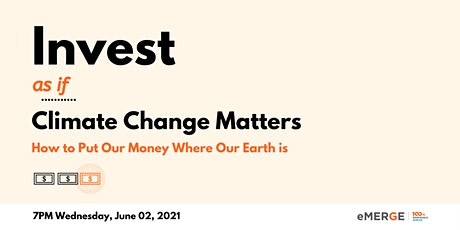 Invest... as if Climate Change Matters tickets