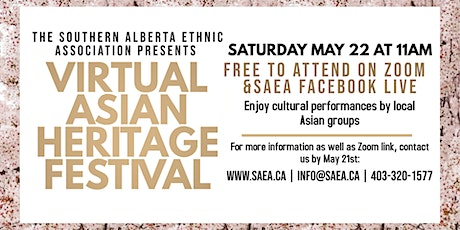 Virtual Asian Heritage Festival tickets