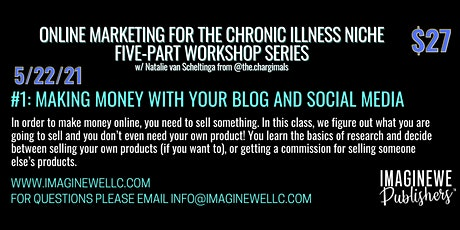 Making Money with Your Blog and Social Media tickets