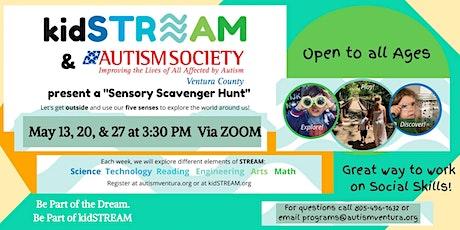 kidSTREAM and Autism Society VC  Virtual Sensory Scavenger Hunt tickets