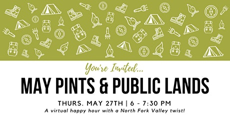 May Pints & Public Lands Virtual Happy Hour tickets