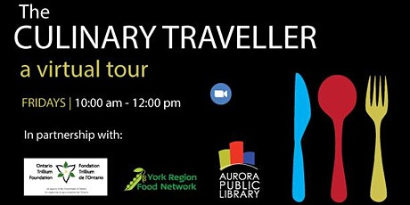 The Culinary Traveller: a virtual tour tickets
