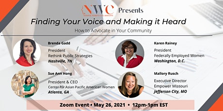 Finding Your Voice (and Making It Heard!): Advocating in Your Community tickets