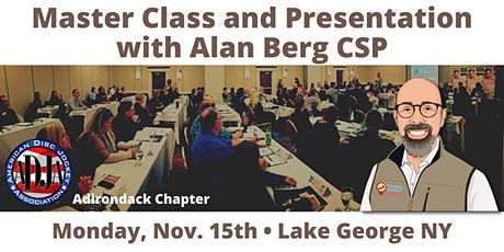 Master Class and Presentation by Alan Berg CSP tickets