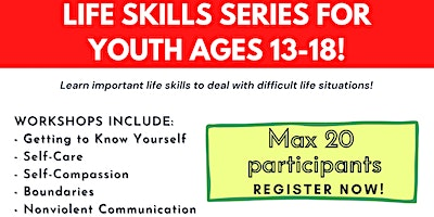 Life Skills Series for Youth ages 13-18!