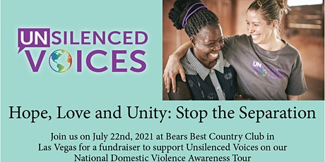 Sponsorship for Unsilenced Voices July 22 awareness event tickets