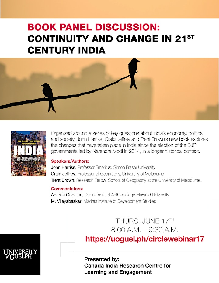 "Book Panel Discussion: ""Continuity and Change in 21st Century India"" image"