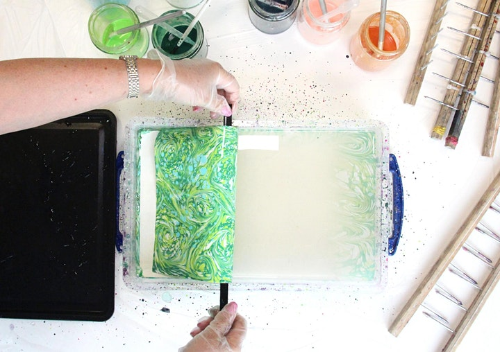 Paper Marbling with Tea & Cake 04/07/21 image
