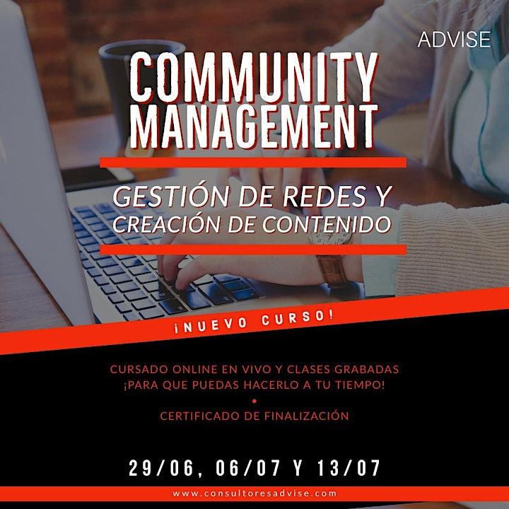 Imagen de Curso: Community Management - Gestion de redes y contenido (online)