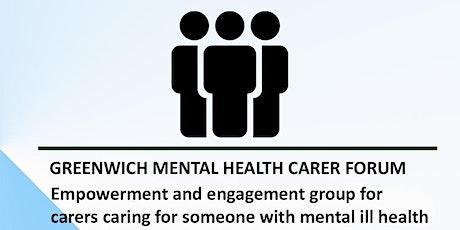 Greenwich Mental Health carers forum tickets