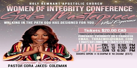 Gods Masterpiece: Walking in the Path God Has Designed for You tickets