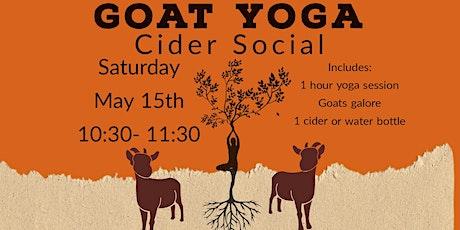 Goat Yoga Cider Social May 15 tickets
