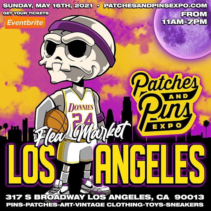 "Patches & Pins Flea Market at Night ""Purple n Gold Sundays"" image"