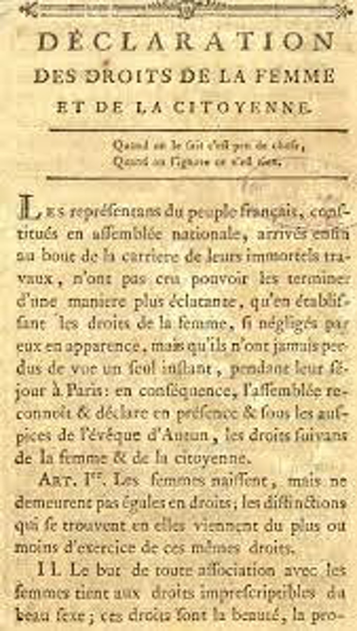 ON HER SHOULDERS: The Necessity of Divorce (1790) by Olympe de Gouges image