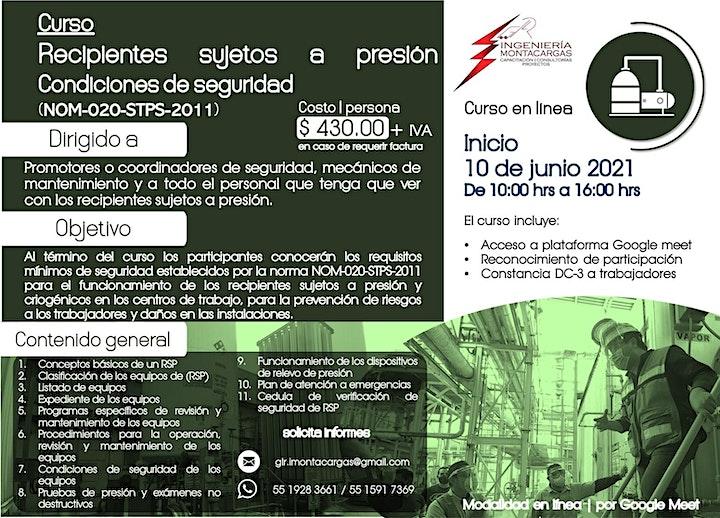 Imagen de Curso | Recipientes Sujetos a Presión NOM-020-STPS-2011