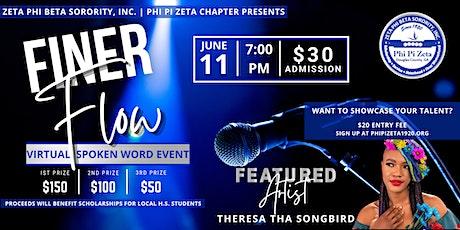 Finer Flow - Virtual Spoken Word Event & Fundraiser tickets