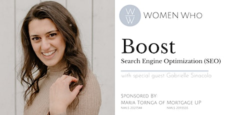 Women Who BOOST - Search Engine Optimization (SEO) tickets