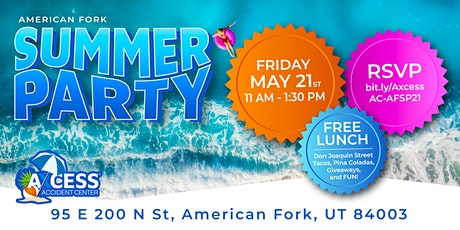 American Fork Axcess Accident Center Summer Party tickets