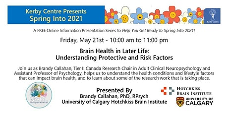 Brain Health in Later Life:  Understanding Protective and Risk Factors tickets