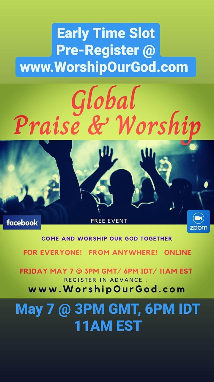 Global Praise and Worship (Free Event Every Friday) Register May 7th image