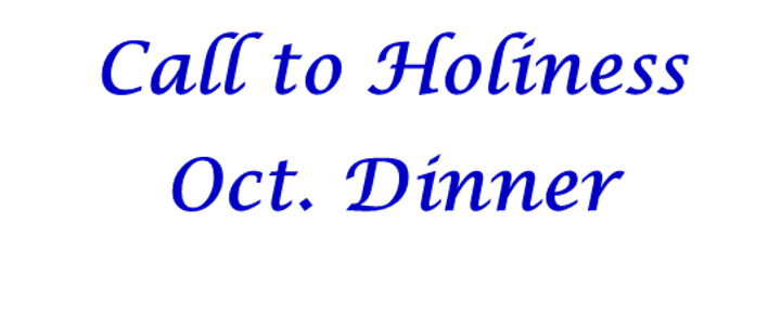 Call to Holiness October Dinner image