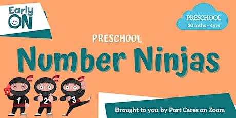 Preschool Number Ninjas - Numbers with Playdough tickets