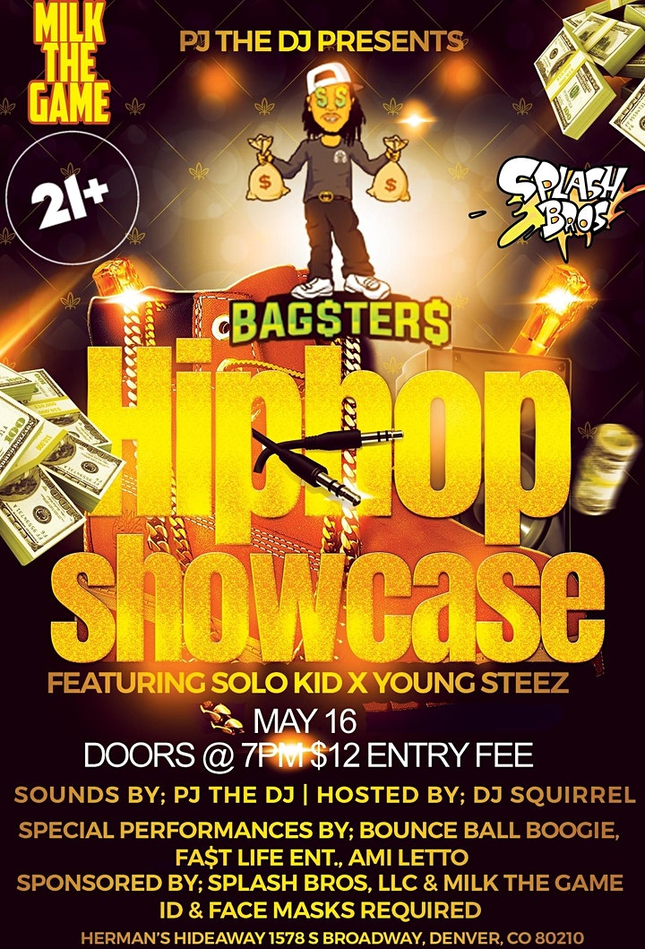 BAG$TER$ HIPHOP SHOWCASE (feat. SOLO KID X YOUNG STEEZ) +much more! image