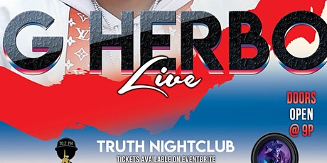 G-HERBO AT TRUTH tickets