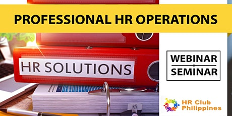Live Webinar: Professional HR Operations tickets