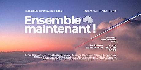 Café avec Christine Smith et Serge Thomann de la liste ENSEMBLE MAINTENANT! tickets