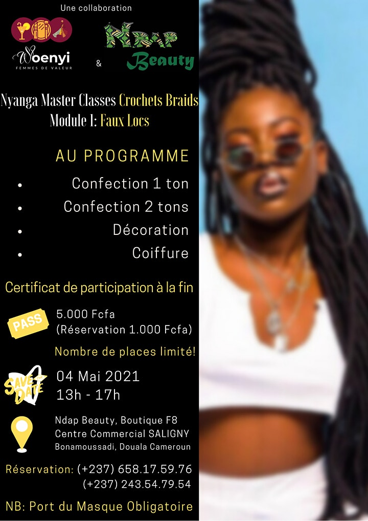 "Les Nyanga Master classes ""Crochets Braids"" image"