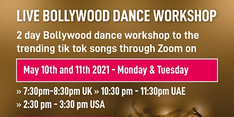 Live Bollywood Dance Workshop tickets