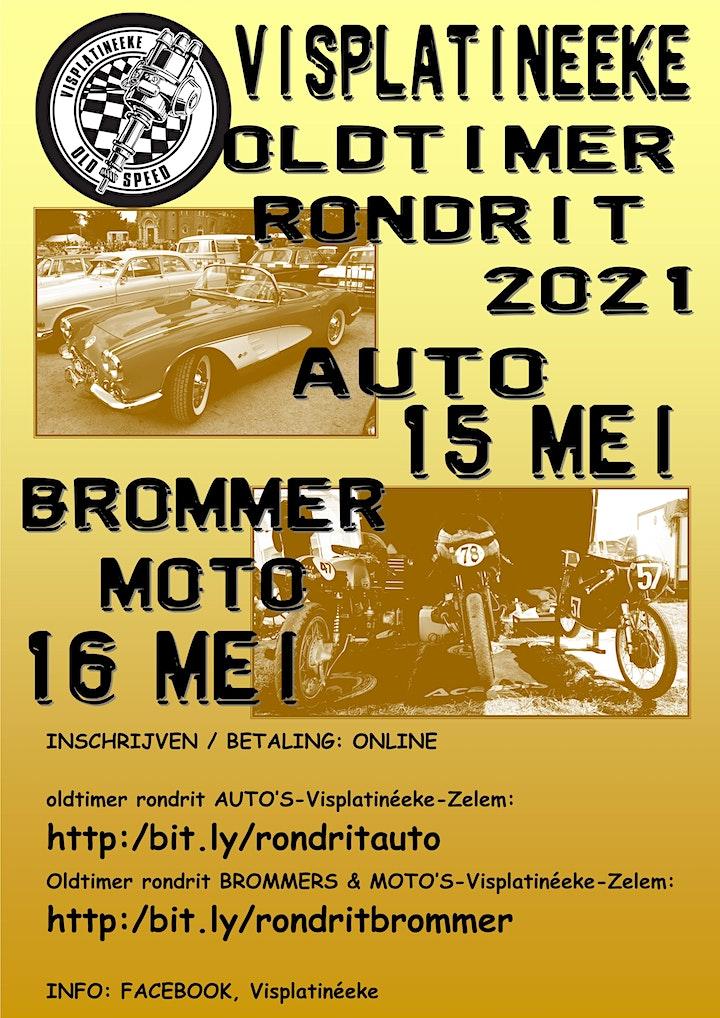 Afbeelding van Oldtimer rondrit: brommers & moto's - Visplatinéeke Zelem
