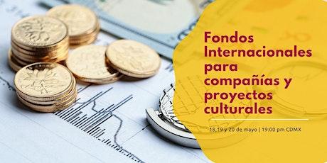 Taller Fondos Internacionales para compañías y proyectos culturales entradas