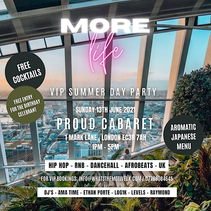 MORE LIFE - Summer Brunch & Day Party image
