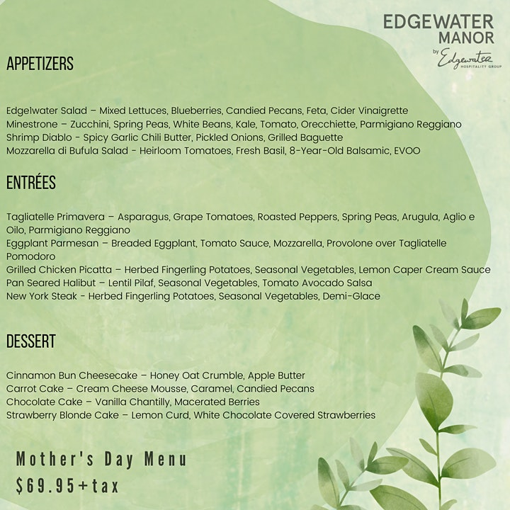 Mother's Day 3 Course Dinner to go image