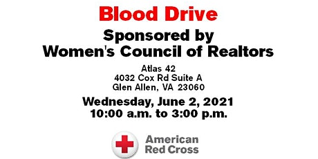 Women's Council of Richmond BLOOD DRIVE tickets