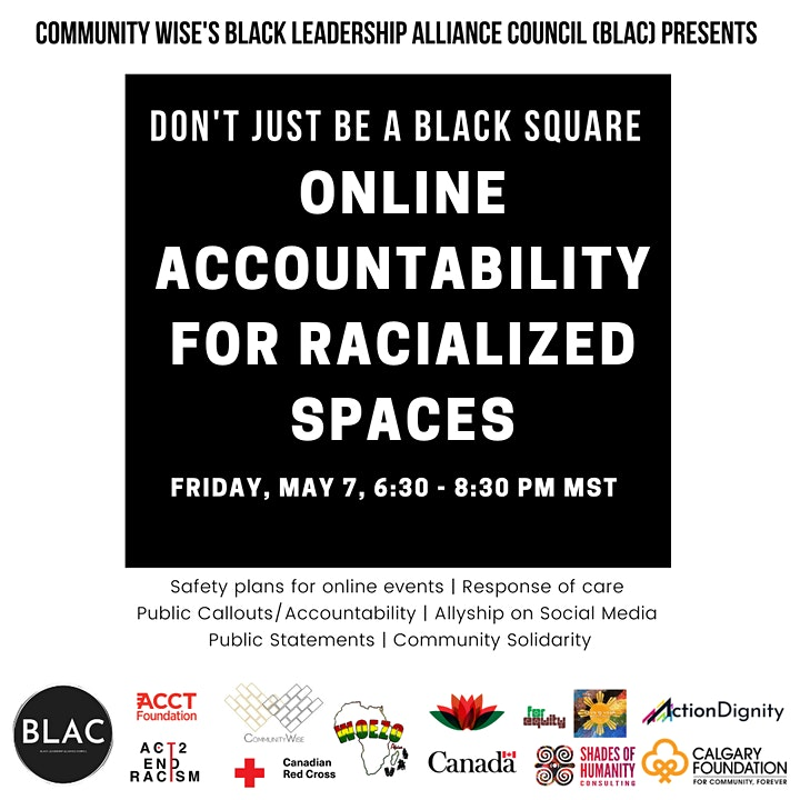Don't Just Be A Black Square:  Online Accountability For Racialized Spaces image