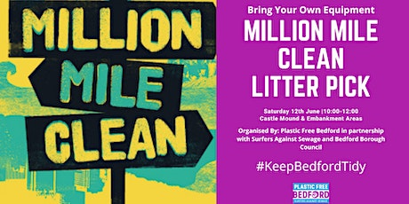 Plastic Free Bedford Million Mile Clean Litter Pick tickets
