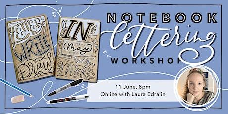 Notebook Lettering Workshop ingressos