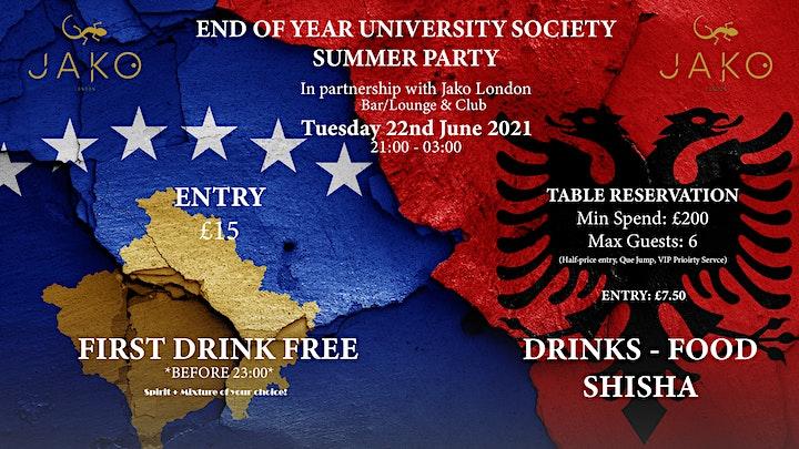End Of Year Albanian & Kosovan University Society Event image
