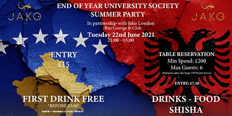 End Of Year Albanian & Kosovan University Society Event tickets