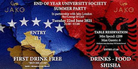End Of Year Albanian & Kosovan University Society Event tickets