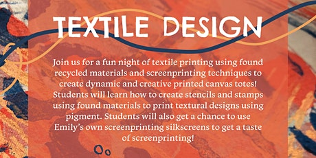 Textile Design Workshop at Codfish Cowboy tickets