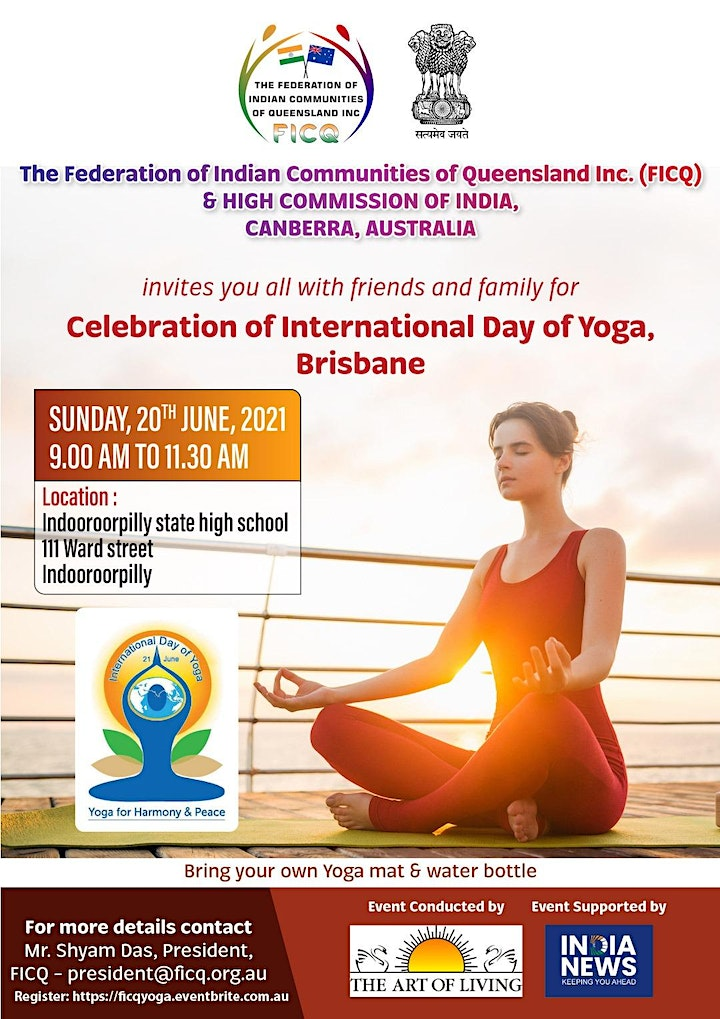 """FICQ & High Comission of India invites you to """"INTERNATIONAL DAY OF YOGA"""" image"""
