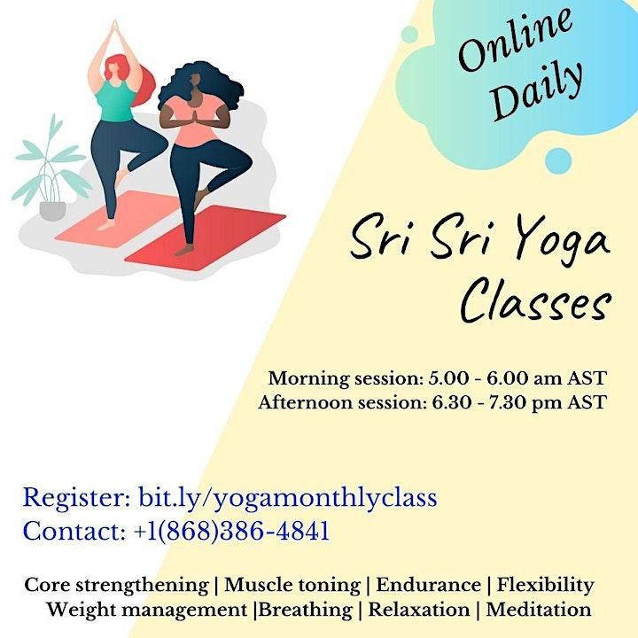 Regular online yoga classes image