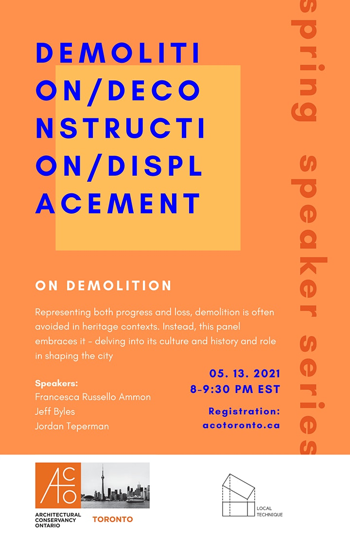 ACO Toronto Spring Speaker Series: ON DEMOLITION image